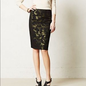 NWT Anthropologie Maeve Camo Pencil Skirt Sz 6